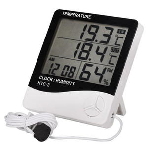 100pcs Digital LCD Thermometer Hygrometer Electronic Temperature Humidity Meter Indoor Outdoor Tester HTC-2