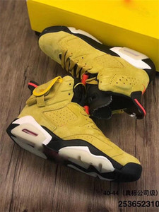 2020top Travis x Houston High Quality Travis Scott x 6 6s Herren-Basketball-Schuhe CN1084-300 Kaktus Jack Weizen Gelb Jumpman Trainer Sneaker