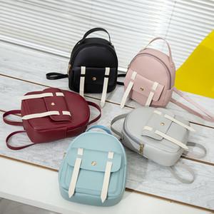 2020 Mini Backpack Women PU Leather Bag For Teenage Girls Kids Multi-Function Small Bagpack Female Ladies School Backpack