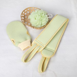 Bath Scrubber Sponge Exfoliating Glove Back Wash Strap Soft Loofah Shower Scrub Towel Massage Spa Body Skin Cleaning Tool
