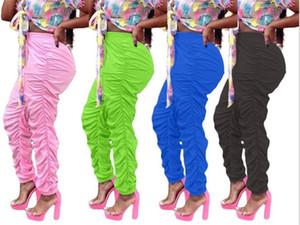 Женщины Сплошных штабелей Sweatpants вскользь Elasctic Середина талия свободных брюк 20SS Новые Женщины лодыжки Дискоидальных Брюки
