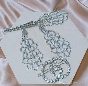 Avrupa ve Amerika Birleşik Devletleri yeni büyük marka kadın gelinler elmas küpe düğün ziyafet elbise düğün takı uzun küpe abartılı