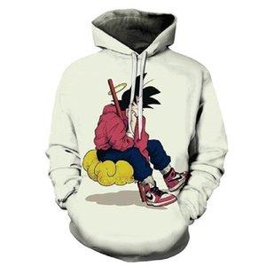 Dragon Ball Толстовки Мужчины 3d Hoodie Дизайнер печатных фуфайки Anime вскользь Streetwear мальчика толстовка с капюшоном пуловер 5XL