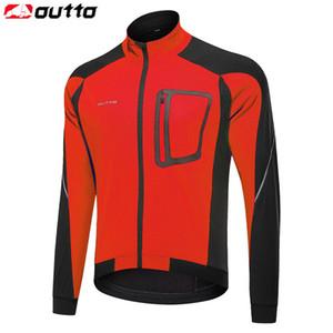 Outto herren Winddicht Thermal Radfahren Jacke Herbst Winter Aufwärmen Fahrrad Reflektierende Jerseys Windjacke Mantel MTB Fahrradbekleidung