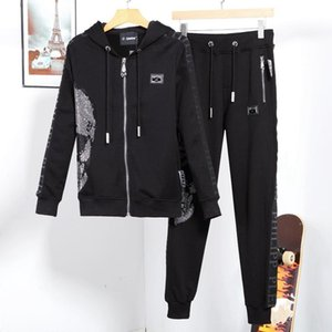 Mens Sportswear Hoodie And Sweatshirts New Brand Autumn Winter Jogger Sporting Suit Mens Sweat Suits Tracksuits Set Plus Size M-3XL #0517