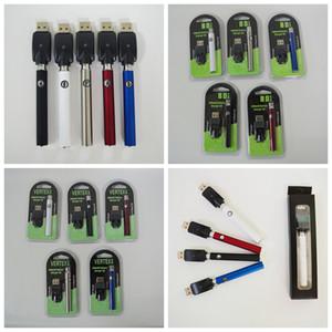 Vape batería 350mAh batería variable Valtage 510 Batería Precalentar el vaporizador de la pluma para el envasado vaporizador pluma Vertex BD Negro Blister