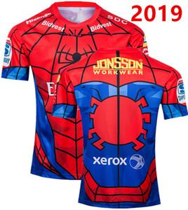 2019 Yeni Zelanda Altın Lions Rubgy formaları Örümcek Adam NZ Altın Lions ragbi Gömlek Altın Lions ragbi gömlek boyutu S-3XL