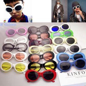 Clout Goggles NIRVANA Kurt Cobain Glasses Alien Sunglasses Classic Vintage Retro Oval Fashion Superstar Style Punk Rock Glasse GGA623 100PCS