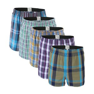 5Pcs lot Boxer Men Thin Summer Underwear Cotton Man Big Size Short Breathable Plaid Flexible Shorts Boxer Male Underpants