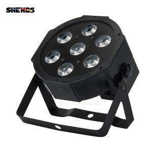 SHEHDS Lyre 7x12W RGBW LED Light Par com DMX512 4em1 Stage Wash Efeito de Luz para DJ Disco Party Stage Equipment Luces Discoteca