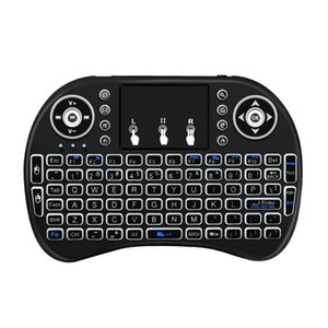 ice & Keyboards Keyboards 2.4Ghz Wireless Keyboard 7 color backlit i8 Mini Russian English 3 colour Air Mouse with Touchpad Remote Co...