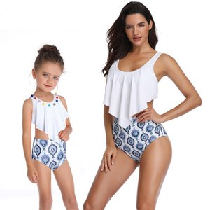 BEST NEW Tassel Two Pieces Cute Bikini Family Matching Outfits Babay Kids Children Girl adult Swimwear Bathing Female Swimsuit for Girls
