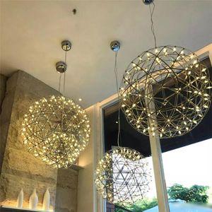 Лестница люстра творческая личность скандинавское освещение фейерверк звездное небо шар светотехника ресторан свеча люстра