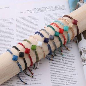 NeeFuWoFu Lace bracelet Bracelets rope manual Bracelet Bohemia de Madera Pulseira Estrela de Cinco Pontas adjustable