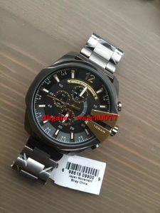 NEW DZ4338 메가 최고 블랙 4338 스테인레스 스틸 남성 시계 이온 도금