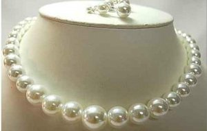 Natürliche 11-13mnm australische weiße Südsee Perlenkette 18 '' Ring