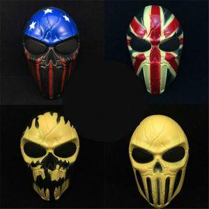Neue gruselige Maske Outdoor Military WarGame Paintball Airsoft Sturmhaube Häuptling Schädelschutz Vollgesichts Halloween Party Maske
