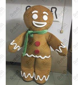 Weihnachten Ingwer-Brot-Maskottchenkostüme Cookie Mann Kostüme Lebkuchen POLE STAR MASCOT COSTUME