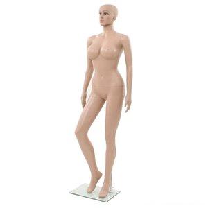 Sexy Female Mannequin com vidro de Medição Medição Análise base bege 180 centímetros Sexy Female Mannequin com vidro eletrônico M