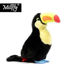 Millffy 1pc 24 cm réaliste peluche réaliste animal en peluche hornbill en peluche jouet jouets en peluche toucan oiseau jouet poupée pour enfants