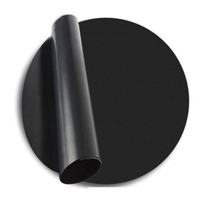 PTFE coated fabric Pfoa Free Premium Oven Baking Liner, Reusable 40CM Round shape BBQ grill mat