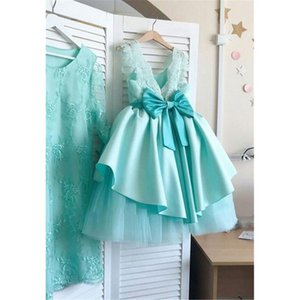 Fashion New Princess Girl Dress Kids Baby Girls Bowknot Summer Dress Sleeveless Wedding Party Princess Elegant