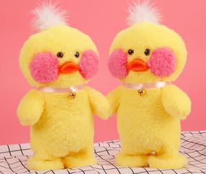 Novas Crianças de Electric boneca Duck Duck Plush Toy amarelo pequeno