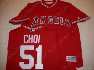 Cheap Retro su misura JI-MAN CHOI maglie rosso Stitch personalizzare qualsiasi nome numero MEN maglie XS-5XL