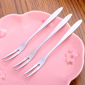 Wholesal Paslanmaz Çelik Meyve Çatallar Restoran Kafeterya Tatlı Çatal Ev Sofra takımı Meyve Salatası Çatallar Kol Çatallar DH1244 T03 Smooth