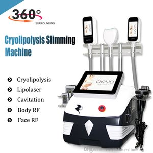 7 in 1 Fat Reduction Lipo Laser 360 Degree freeze fat cool cryotherapy Cavitation Body Slimming System
