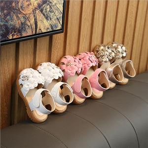 Moda Yaz Kızlar Sandal Çocuk Çocuk Bebek Örgü Kız dip Sneaker Prenses Casual Ayakkabı Sandalet ABD boyutu tendonu Antiskid Flower Ayakkabı