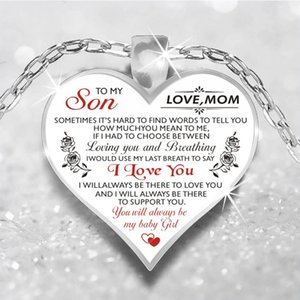 Collier de coeur romantique Rose Fleur à ma femme fille Pendentifs Colliers pour femmes filles bijoux cadeaux spéciaux
