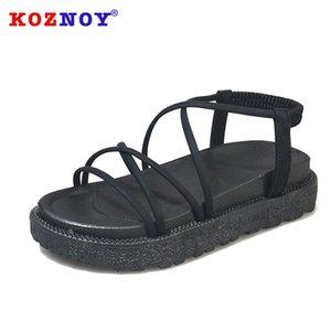 Koznoy Kadınlar 2020 Sandalet Yaz Kalın Alt Kadınlar dropshipping Platformu Moda Ayakkabılar Nedensel Moda Sandalet Gladyatör