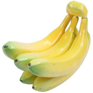 Fake Fruit Bananas - Artificial Fruit Plastic Bananas for Still Life Paintings, Storefront Decoration, Kitchen Decor, Yellow, 7