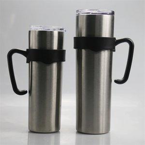 Skinny Tumbler Handle Plastic Handles 20oz 30oz Tumbler Single Circle Handle Non-slip Handgrip Wine Tumbler Coffee Mug Handgrips A03