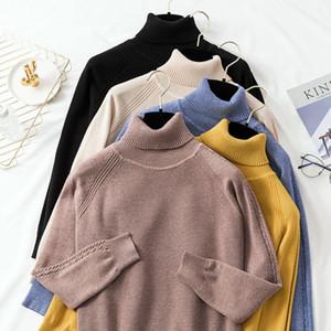 Hot Banulin Pullover weiblich 2019 Herbst-Winter-Kaschmir-Strick Frauen Pullover und Pullover weiblich Tricot Jersey Jumper Pull Femme