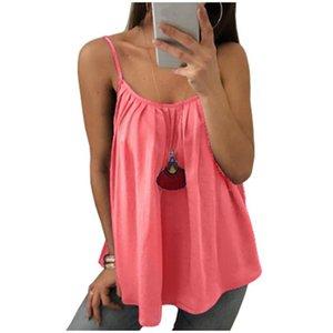 8 Colors Summer Women Sleeveless Blouse Pleated Tops Plus Size Sexy Tee Shirts Loose Spaghetti Strap Chiffon Vest Tops Tunic