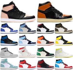 fascia alta all'ingrosso 1 di alta basket scarpa tributo casa Phantom palestra Red Chicago Top Three Lakeman 1 sneaker 36-46