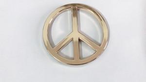 Gold 3D Groovy Signe de la paix Chrome Emblem Decal Sticker Auto Voiture Truck Vélo Universalité