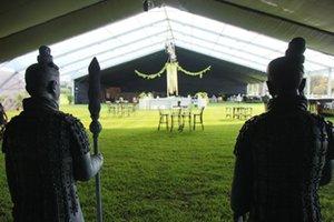 vendita calda pagina trasparente in PVC alluminio Wedding mobile tendone tenda