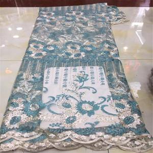 Elbise için Mor Afrika dantel kumaş 2019 yüksek kaliteli dantel fransız örgü kumaş yeşil taşlar nigerian isviçre dantel kumaşlar