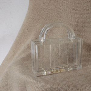 Designer-NEW Women Clutch Shoulder Bag Summer Handbag Purse Transparent Jelly Acrylic Clear Wallet Beach Handle Party Fashion Cubif