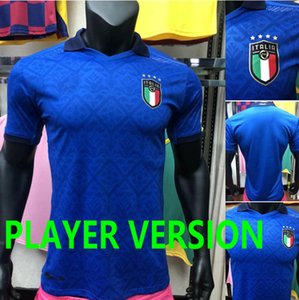 Spielerversion 2020 Italien Fussball Jerseys Nationalmannschaft Italien Insignente Belotti Verratti Kean Bernardeschi Männer und Kinder Fußball-Hemd Uniformen