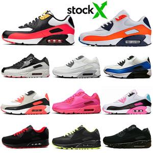 nike air max 90 airmax 90s koşu ayakkabıları erkekler kadınlar Üçlü Siyah Beyaz siyah timsah Neon Orange Blue South Beach eğitmenler Spor Sneakers 36-45 mens kızılötesi