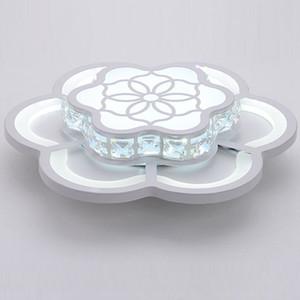Cristal moderno LED Dormitorio Pasillo Luz de Techo Blanco Flor de Acrílico Balcón Lámpara de Techo Porche Pasillo Lámpara de Techo