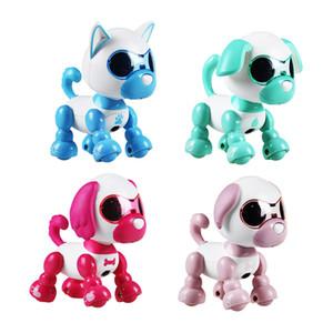 로봇을위한 어린이 장난감 개 애완 동물 장난감 대화 형 스마트 키즈 로봇 애완 동물 강아지 산책 LED 눈 소리 강아지 기록적인 교육 크리스마스 선물