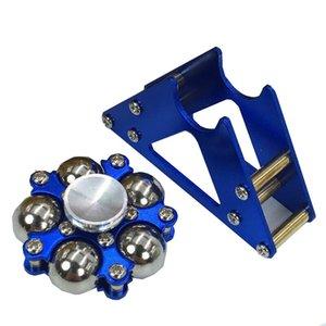 Metal cinco grânulos Ferris dedo giroscópio cinta metálica esfera de aço inoxidável suporte giroscópio EDC dedo descompressão