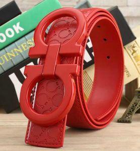 Mode Ceinture en cuir véritable à grande boucle avec ceintures de créateur de haute qualité pour hommes et femmes