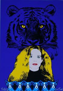 Tigre Perro George Rodrigue azul patas LSU Decoración pintado a mano de la impresión de HD pintura al óleo sobre lienzo arte de la pared de la lona representa 200111