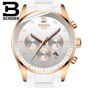 Швейцария переедания Мужские часы Top Спорт хронограф кварцевые часы Мужчины Relogio часы Мужчина для Rose White
